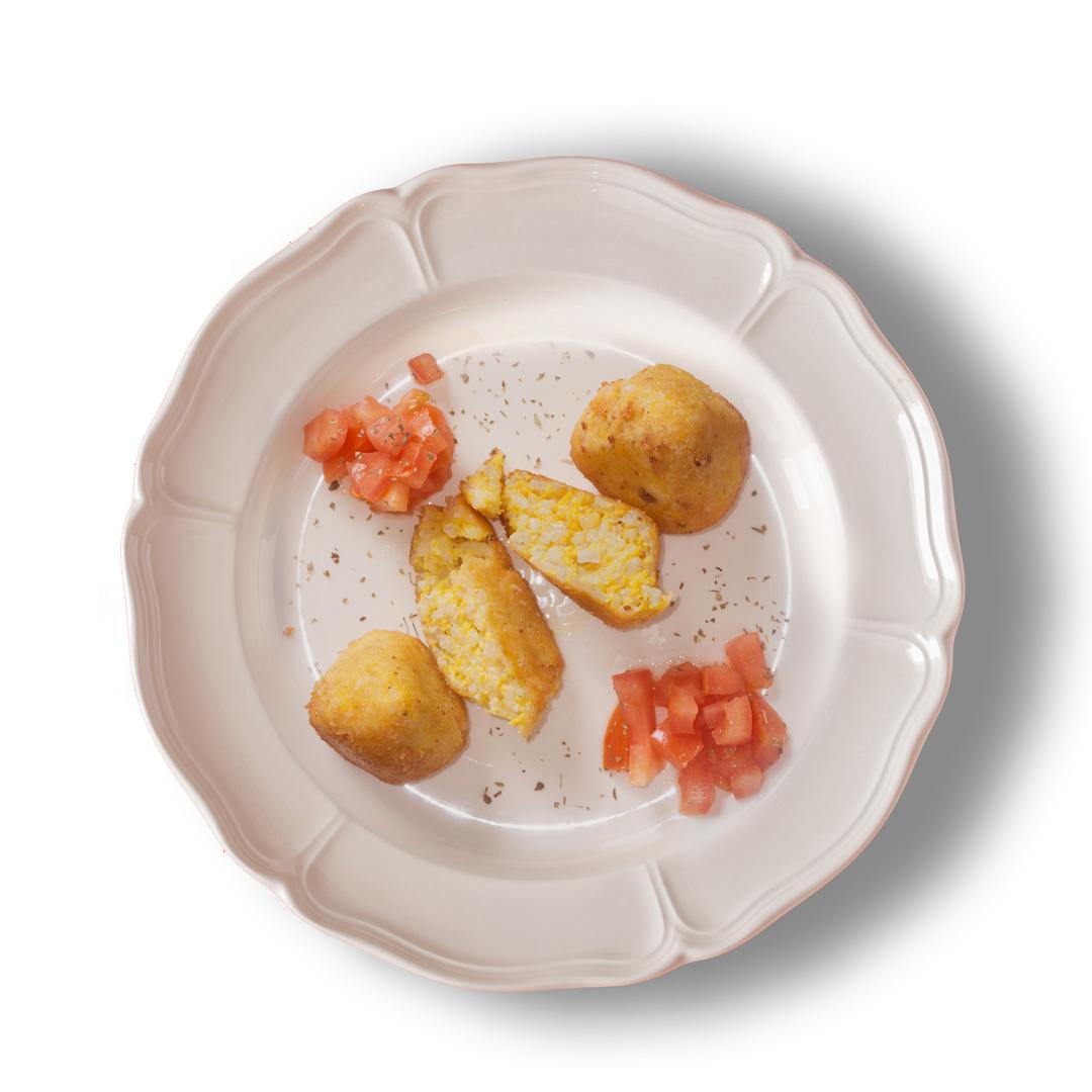 Fritti sfiziosi - La tradizione rivisitata - Mini arancini alla carbonara
